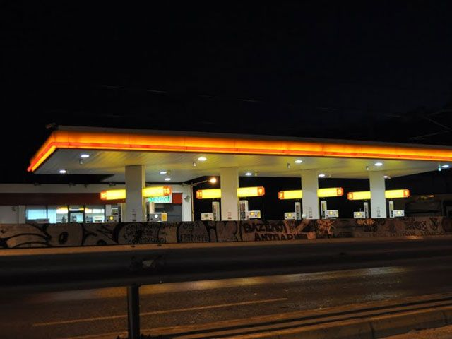 Η Shell στη στροφή στον Άλιμο