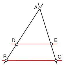 Théorème de Thalès — Wikipédia