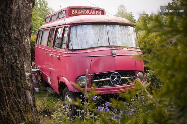 The Pink Swedish Fire Truck - Vestby Norway