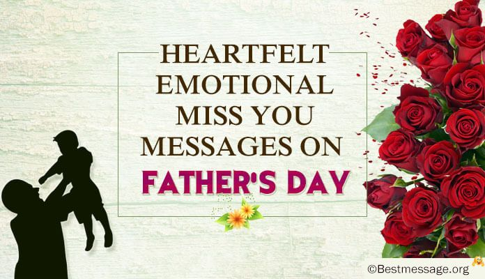 Best Collection of emotional heart touching messages to send on Father's Day to your daddy who has passed away in form of SMS, Whatsapp status for dad and greetings.