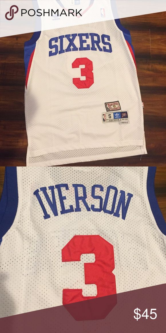 Allen Iverson Stitched Jersey Worn Once No Stains Adidas Shirts