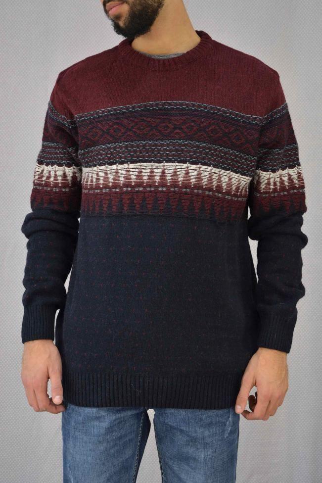 Ανδρικό πουλόβερ ζακάρ  PLEK-2714 Πλεκτά - Πλεκτά και ζακέτες - Άνδρας