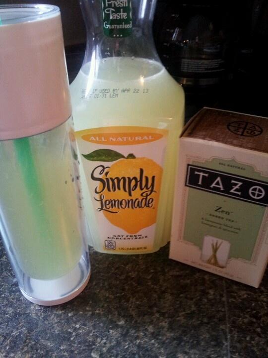 At home starbucks green tea lemonade! Money saver