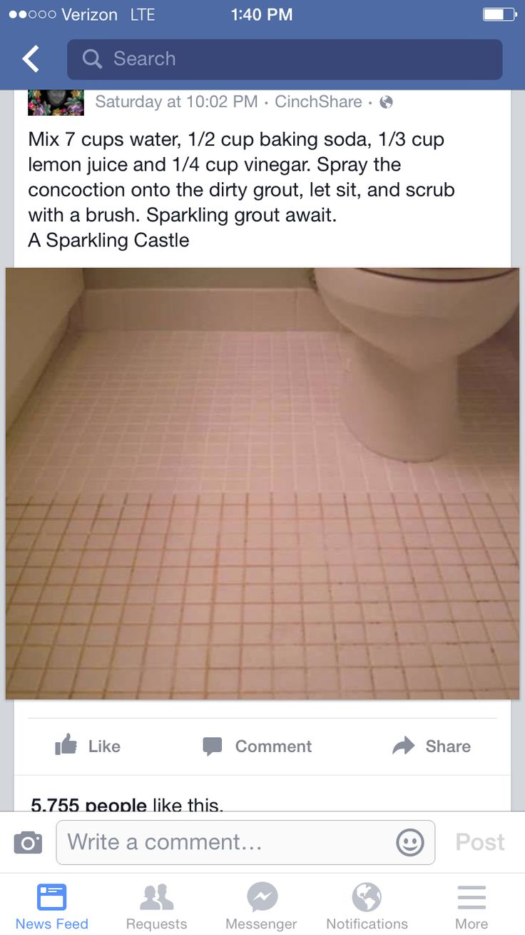 Cleaning grout