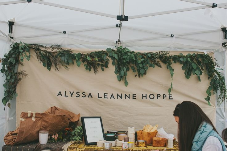 Alyssa Leanne Hoppe's garland workshop with gorgeous hanging greenery and printed banner.