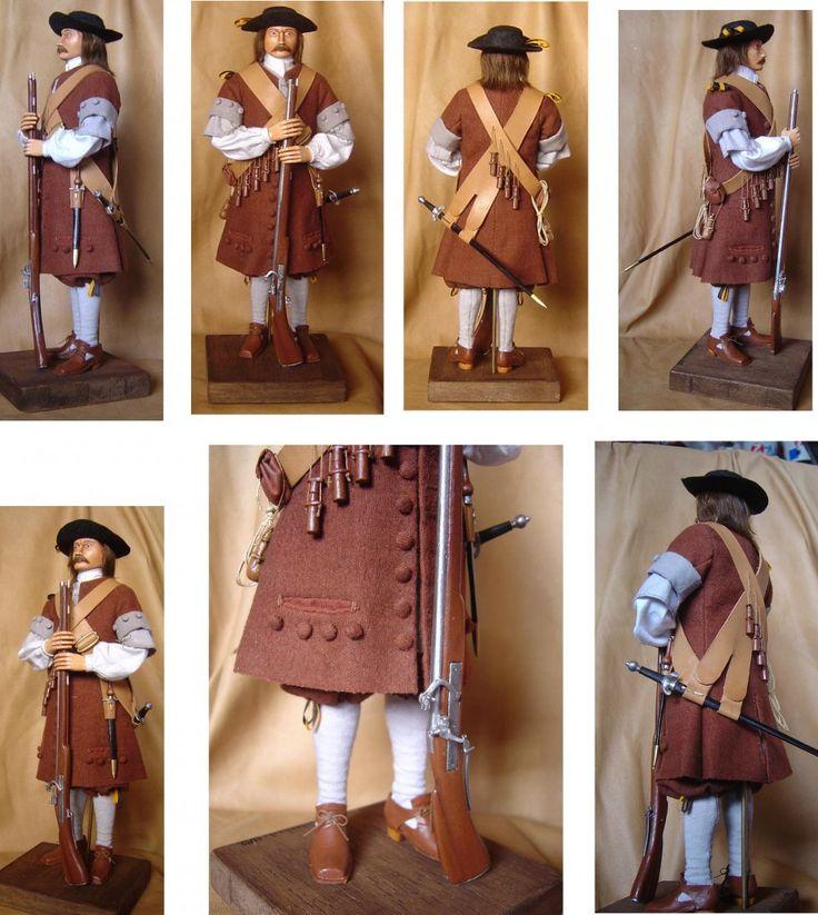 Figurine de soldat du Régiment de Carignan-Salières et son habillement
