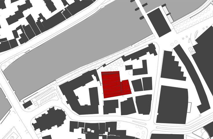 Double gymnasium in Landshut by Hirner & Riehl Architekten, site map