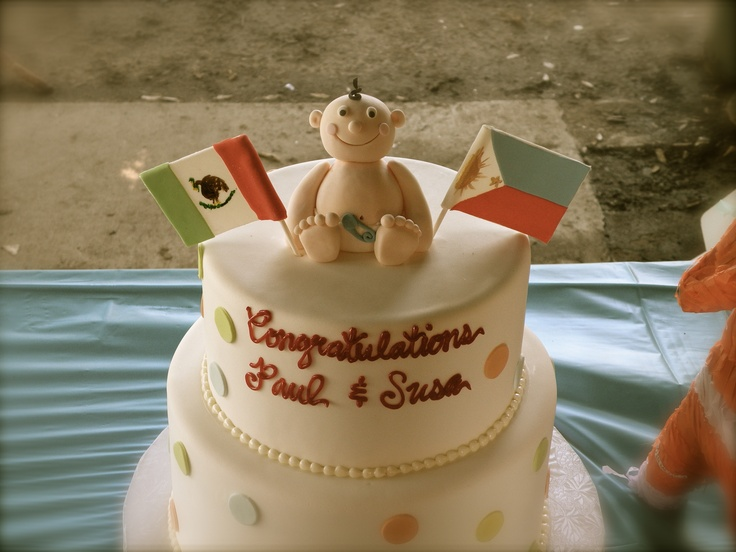 Mexipino baby shower cake by Cakes by Rumy Baby shower