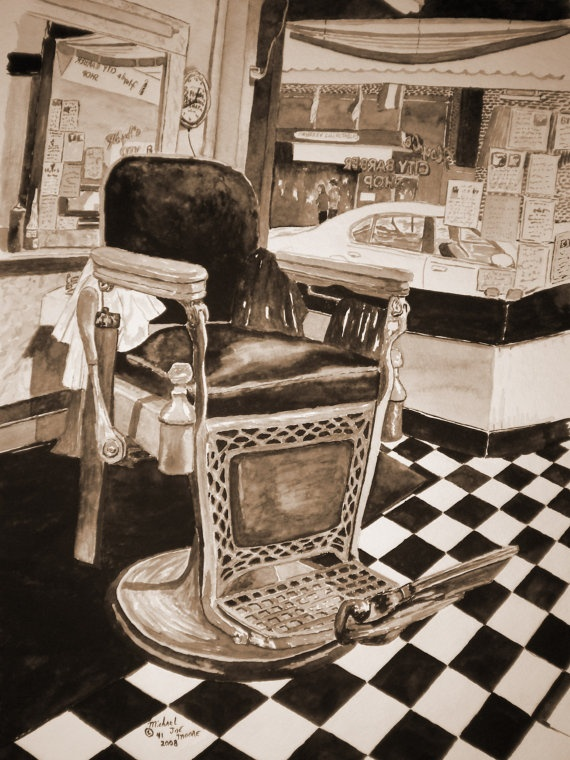 Barber Shop Irvine : Floyds Barber Shop Sepia Made from the Original by MJMH2O on Etsy, $35 ...