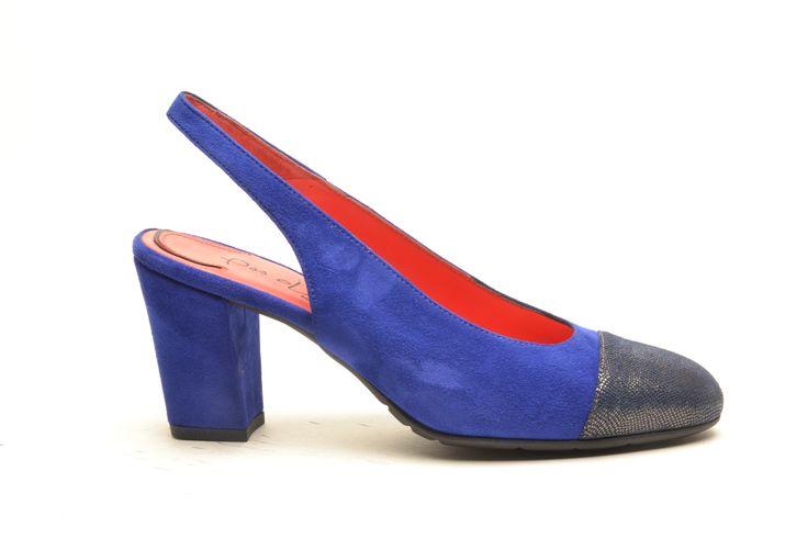 #pasderouge #shoes #summer #suede #silver #electric #blue #sandal #chanel