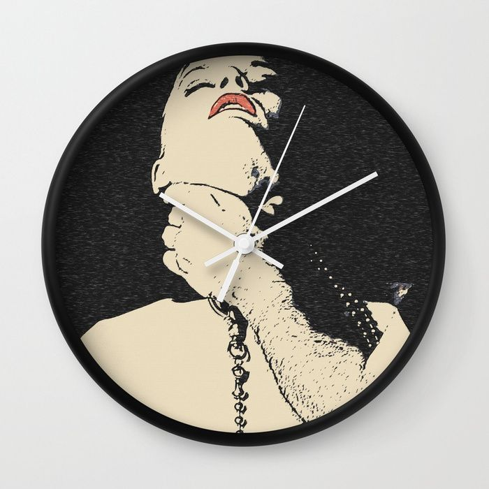 "Choke me, use me, abuse me, my Master - hard slave fetish erotic, kinky red lips girl choked, breath Wall Clock Available in natural wood, black or white frames, our 10"" diameter unique #Wall #art #Clocks feature a high-impact plexiglass crystal face and a backside hook for easy hanging. Choose black or white hands to match your wall clock frame and art design choice. Clock sits 1.75"" deep and requires 1 AA battery (not included)."