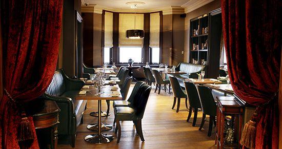 The smart but very comfortable Aubrey restaurant.