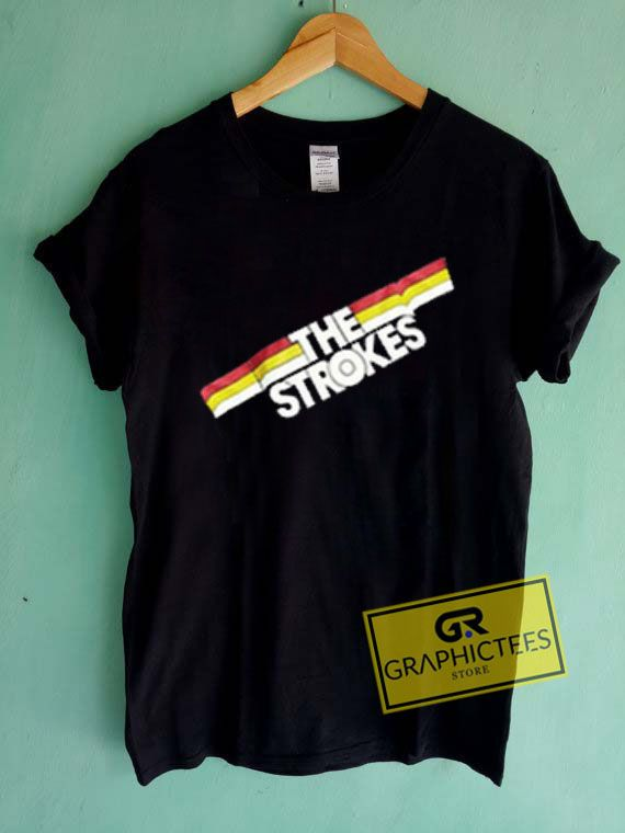 677e3152 The Strokes Striped Graphic Tees Shirts //Price: $13.50 // #graphic tees  for men