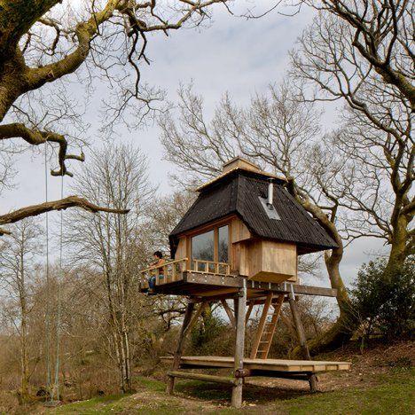 Nozomi Nakabayashi Creates Writeru0027s Hut On Stilts In The Dorset Woods