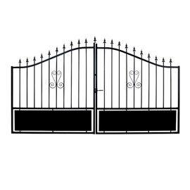 Portail en fer braga 300 cm inspiration maison pinterest for Peindre un portail en fer