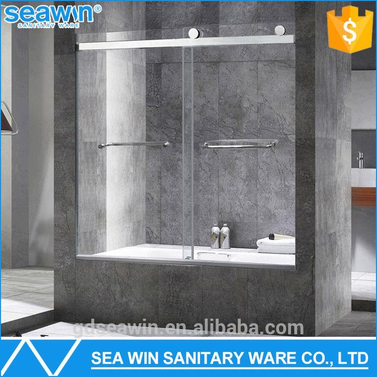 CSI/SGCC Approved 8mm Tempered Glass Frameless Bathtub Door Sliding Shower  Screen