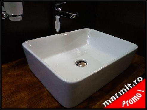 Lavoar dreptunghiular pe mobilier Krupp, obiecte sanitare, cazi de baie, cazi…