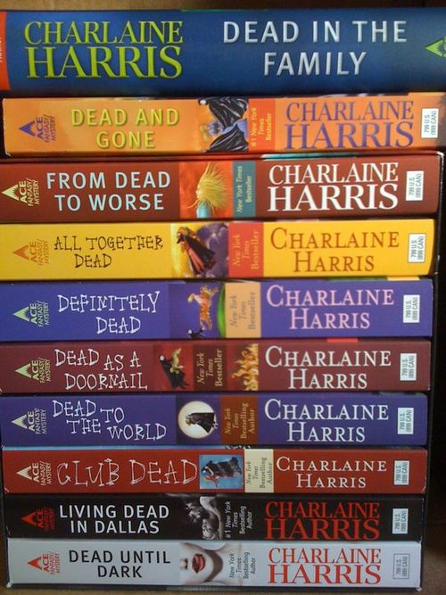 The Sookie Stackhouse novels, the books True Blood is based on even though they pretty much stopped going by the book after season 3. I need to read these!