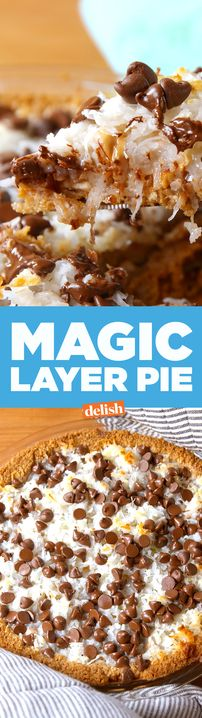 What's Magic Layer Pie? Watch and find out. Get the recipe from Delish.com.