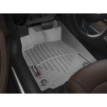 WeatherTech Custom Fit Front FloorLiner for Honda Pilot, Grey - gray