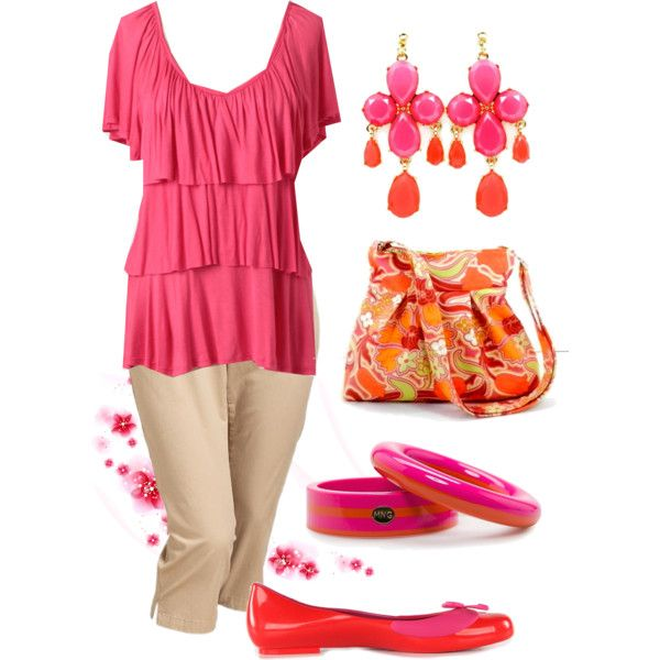 Plus Size for Work in Pink and Orange