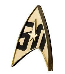 Star Trek 50th Anniversary Magnetic Badge Prop Replica from Star Trek 220x250 Great Star Trek Gift Ideas