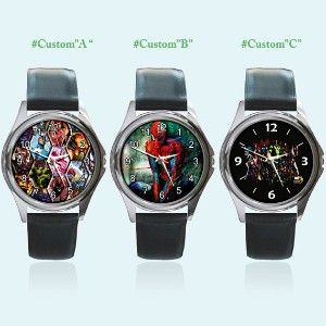 New Round Metal Watch All Marvel Comics Spiderman Hulk... | Shop entertainment| Kaboodle