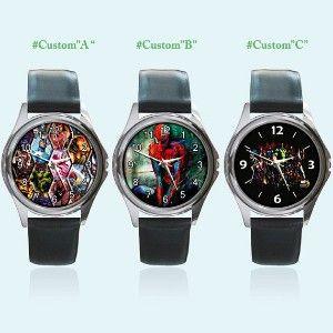 New Round Metal Watch All Marvel Comics Spiderman Hulk... | Shop entertainment| Kaboodle