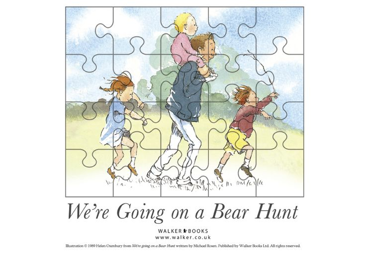 Printable jigsaw puzzle    We're going on a bear hunt