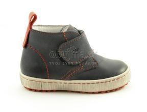 Pohodlné kožené detské tmavo modré topánky Emel
