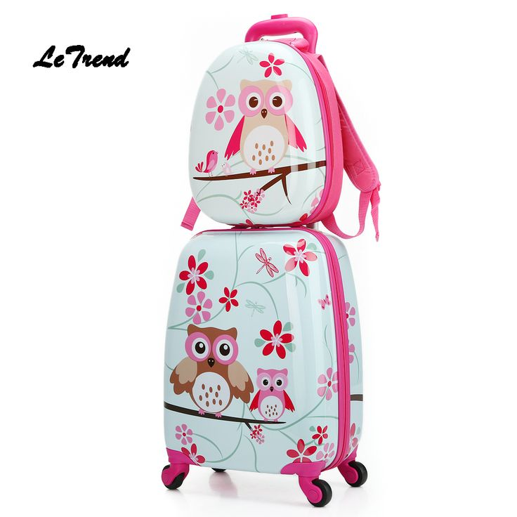 Letrend  Cartoon Cute Animal Kids Rolling Luggage Set Spinner Children Suitcases Wheel Trolley Travel Bag Student Carry On Trunk //Price: $62.50 & FREE Shipping //     #hashtag4