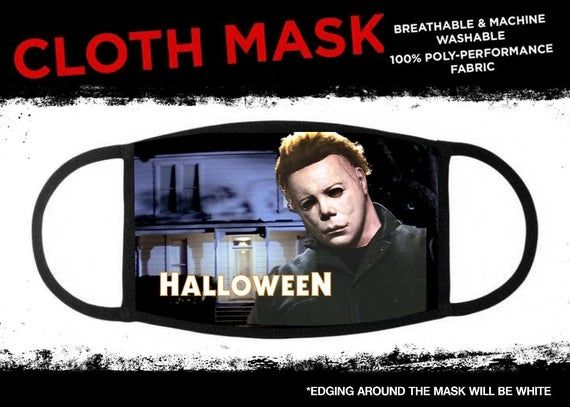 Michaels Face In Halloween 2020 Halloween Michael Myers Face Mask Cloth Cover in 2020 | Michael