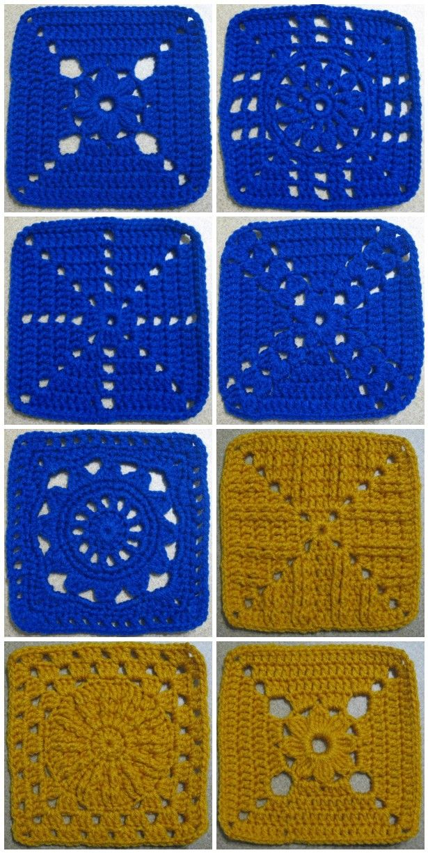 365 Granny a day project done by The Jewell's Handmade - Photos and Links to lots of FREE crochet afghan squares!!