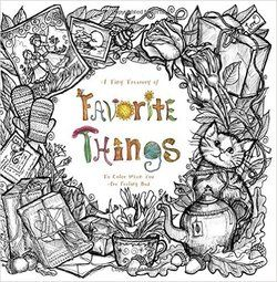 A Tiny Treasury of Favorite Things by Sarah Janisse Brown is a very portable and adult-friendly coloring book designed to lighten a Mom's load by inviting her into some creative self-care. This relaxing coloring book is very small and would fit very comfortably in a purse. Read more at http://www.homescooleducation.com/blog/a-tiny-treasury-of-favorite-things-to-color-when-you-are-feeling-bad