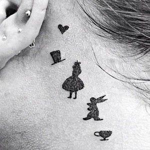 alice in wonderland keyhole tattoo - Google Search