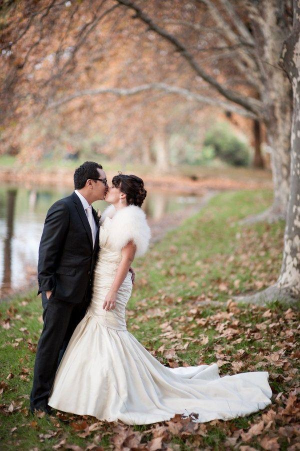 fluffy shrug and wedding dress