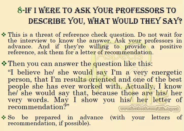 Another Question From HR  This is belong to somehow like recommendation. So be prepared in advance and already you have letter of recommendation with you.  #Objective #AlwaysBePositive #Management #Style #Seniors #Subordinates #GenericPlanet #HR #JobTips #CareerCounsling #Questions #Answers #Sharing #Marketing #SocialMedia #JobInterviewTips #JobSearch
