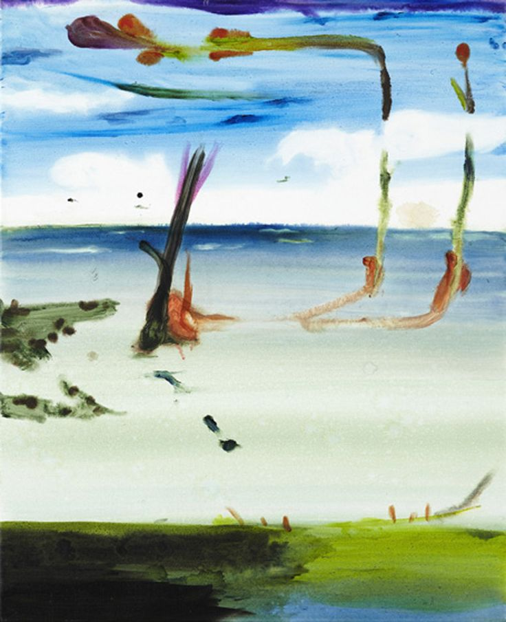 John Körner, Swimming With A New Museum, Acrylic on canvas, 2009