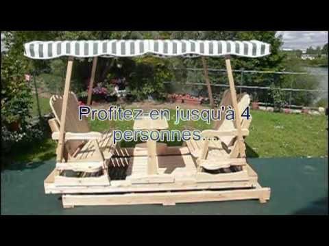 Vid o d 39 une balan oire roues install e en france telle - Plan pour construire une balancoire en bois ...