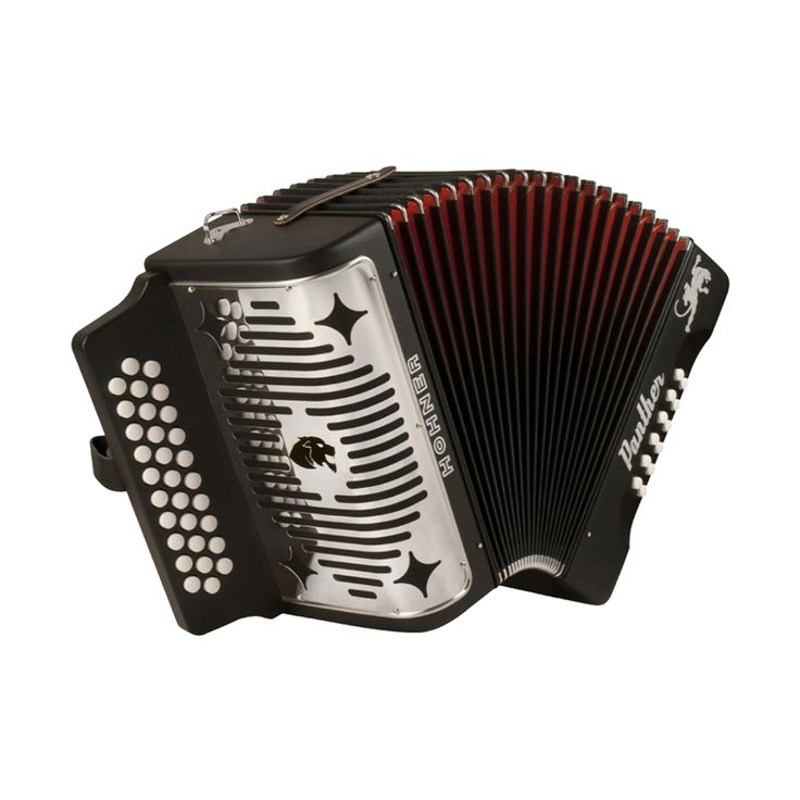 Hohner Panther GCF Diatonic Accordion - Black