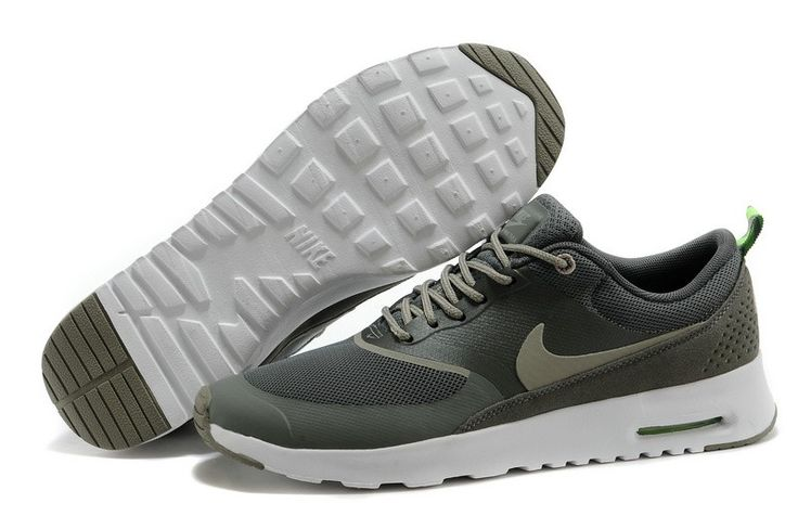 Air Max Thea Print Fabriek Online Nike Dames Sneakers Schoenen Olijf