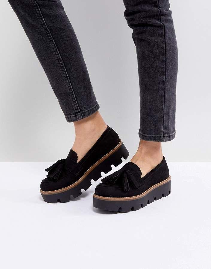 5b70da3d9cc Bershka Chunky Flatform Loafers
