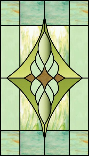 """stained glass"" film for bathroom window /Like pattern for on each side of mirror or frame around but need dif colors"