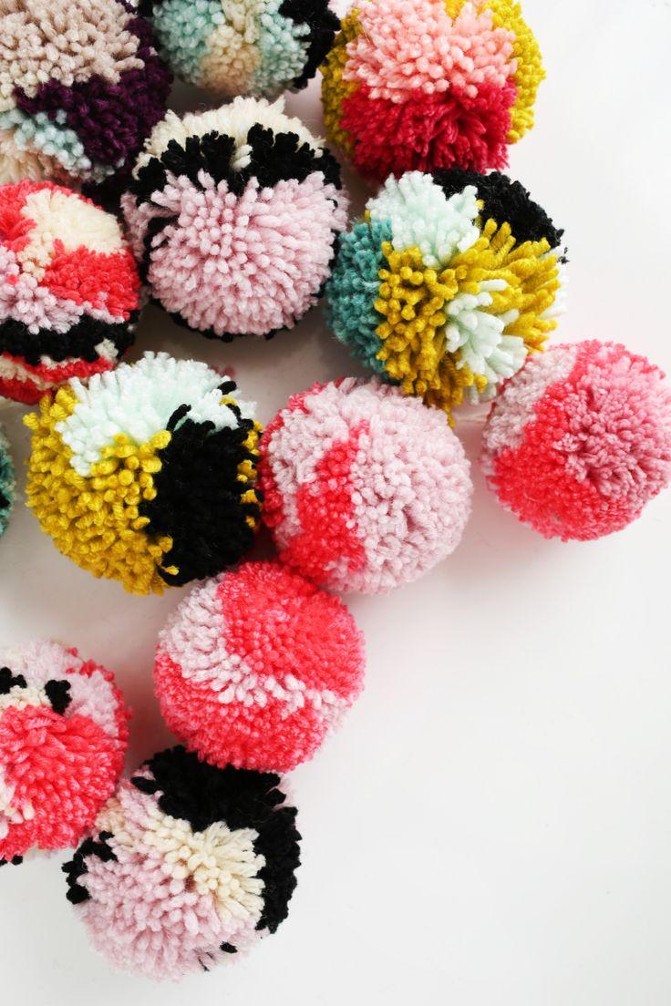 best 25 pom poms ideas on pinterest pom pom diy pom pom garland and pom pom crafts. Black Bedroom Furniture Sets. Home Design Ideas