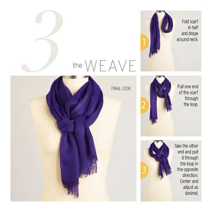 How to weave a scarf