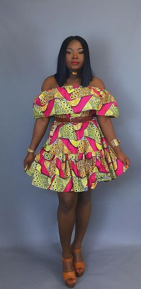 2694620b956 CLassy beautiful ankara off shoulder short gown styles for ladies