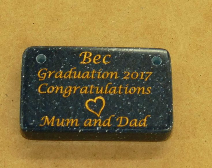 Memorial stone engraved with gold fill made with holes to fix to tree or fence Choose size and stone colour