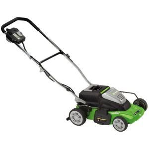 14 in. Rechargeable Cordless Electric Lawn Mower-60214 at The Home Depot $315
