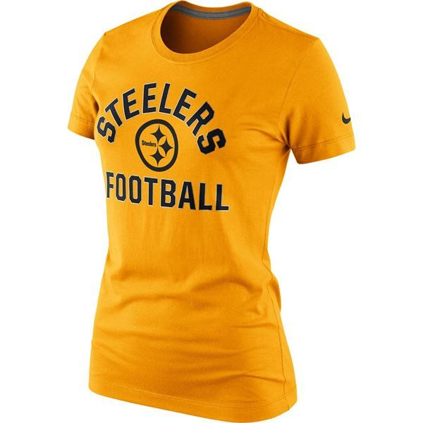shop the official steelers pro shop for pittsburgh steelers nike womenu0027s triblend hometown gold tshirt tee - Pittsburgh Steelers Merchandise