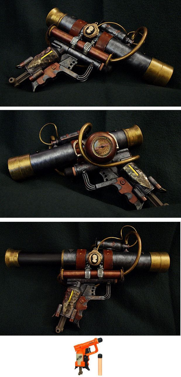 Steampunk telescopic gun by Ajldesign. An awesome prop for a real Steam Lady! See it also on deviantART.